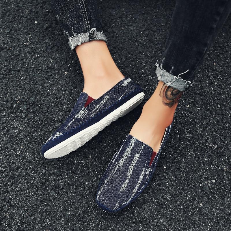 Slip Chaussures Loup sky Buty dark Blue Sneakers X Hommes Mâle Krasovki Black On Homme Conduite Qui Occasionnels 043 Respirant Mocassins Meskie Blue Marche Denim wrx7YqCRr