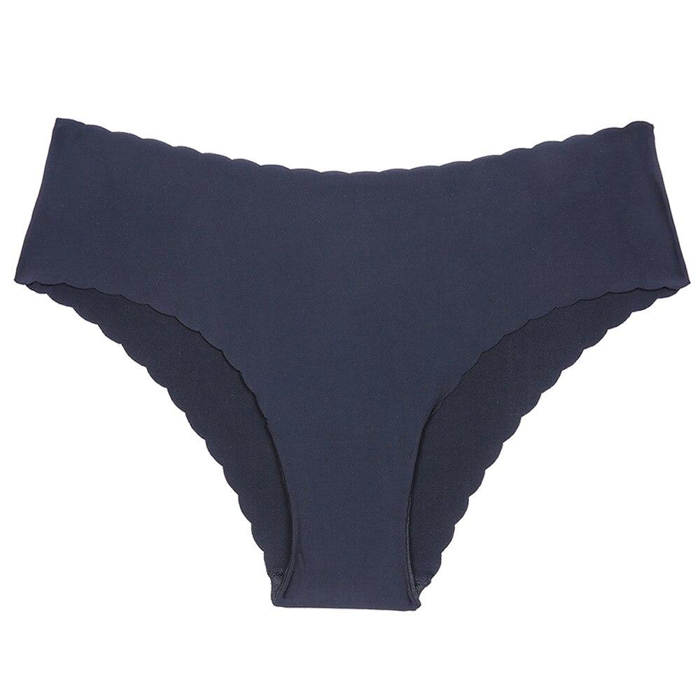 DeRuiLaDy Women Briefs Smooth Seamless Sexy   Panties   Beautiful code lotus leaf side wavy side ice silk no trace women's underwear