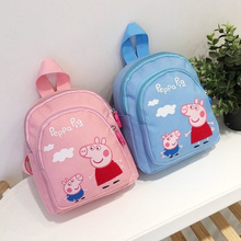 Peppa Pig Toy Cartoon Character Action Figure Backpack High Quality Material Nylon Cloth Cartoon Bag School Bag Children's Gift