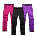 Women Hiking Pants Camping Trousers Soft Shell Fleece Warm Wear-Resistant Waterproof Windbreak Skiing Pants