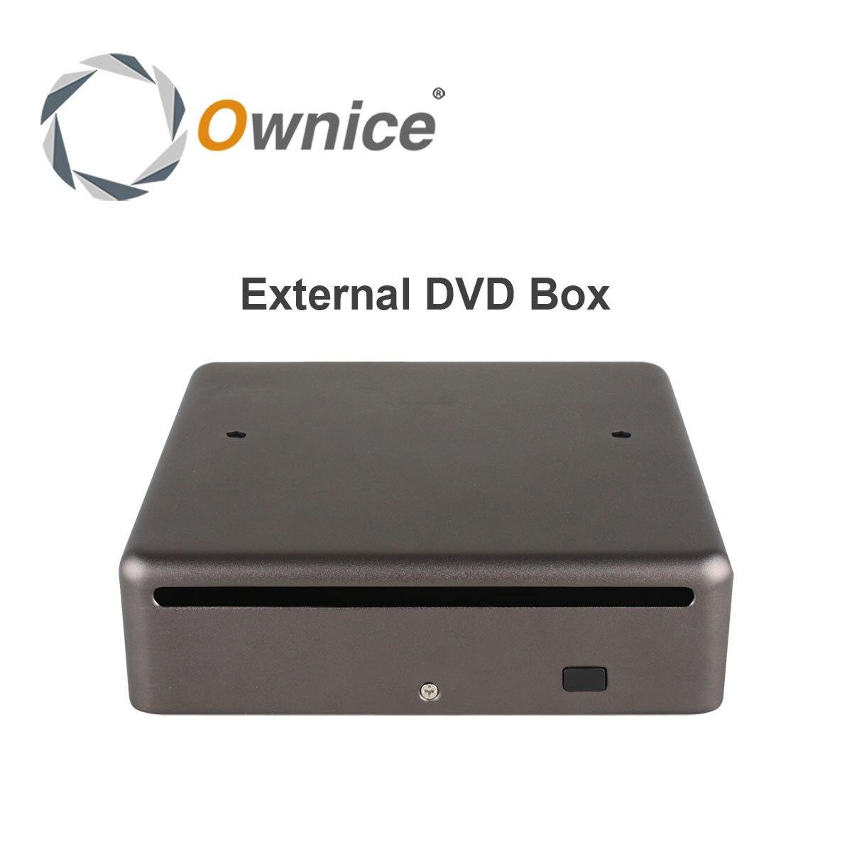 Ownice dvd Externo caixa de Suporte A Reprodução de DVD e CD Apenas para Ownice Jogador Rádio Do Carro Só