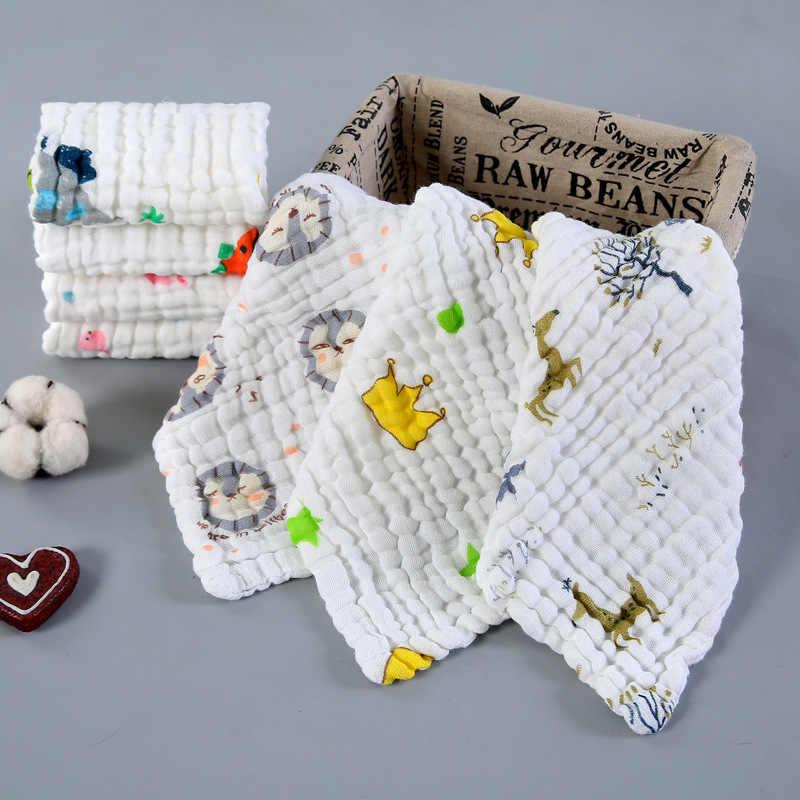 超安いベビーハンカチ正方形ベビーフェイスタオル 28 × 28 センチメートルモスリン綿の幼児フェイスタオルワイプ布ハンドタオルフェイスタオル
