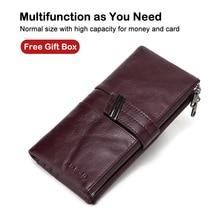 X.D.BOLO Women's Wallet Genuine Leather Wallets Female Portomonee Coin Purse Long Clutch Purses Phone Card Holder Carteras