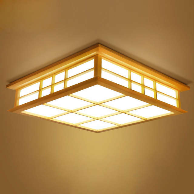Ceiling Lights Anese Style Tatami Lamp Led Wooden Lighting Dining Room Bedroom Study Teahouse 0033