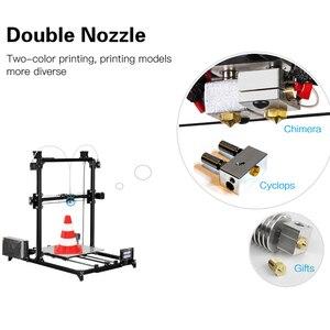 Image 4 - 2019 flsun tamanho de impressão i3 impressora 3d, 300x300x420mm sistema de autonivelamento automático, extrusora dupla kit diy touchscreen de 3.2 polegadas
