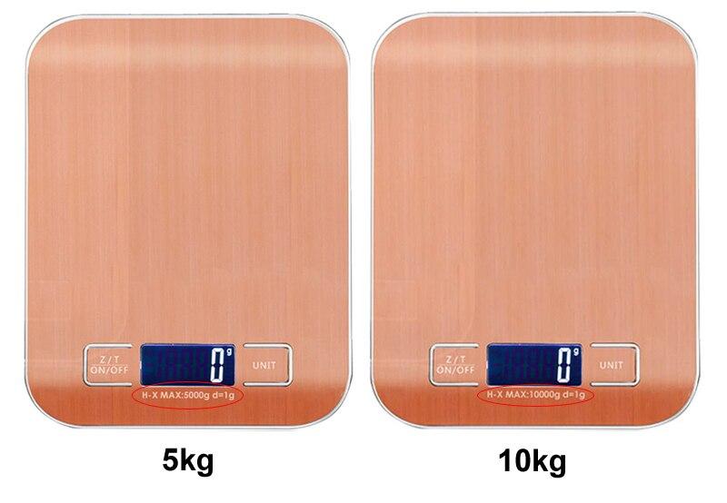 10 kg5000g lcd escalas de cozinha de