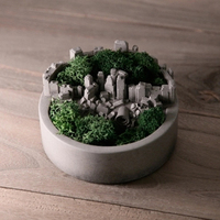 Микро-ландшафтный дизайн бетонный цветочный горшок силиконовая форма сочные растения литой горшок для сада пейзаж цемент мебель плесень