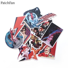 Patchfan 12pcs David bowie paster collection 90s decals scrapbooking Kids Toy for DIY phone Motorcycle Waterproof Stickers A1747