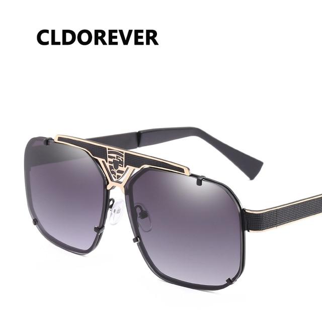20079bb110 New 2018 Cool Oversized Sunglasses Men Brand Designer Vintage Sun Glasses  For Driving Pilot Sunglass Outdoor Goggles Shades