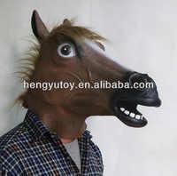 HUIZHOU uroczystości zabawki realistyczne słodkie lateksowe koń maska na boże narodzenie
