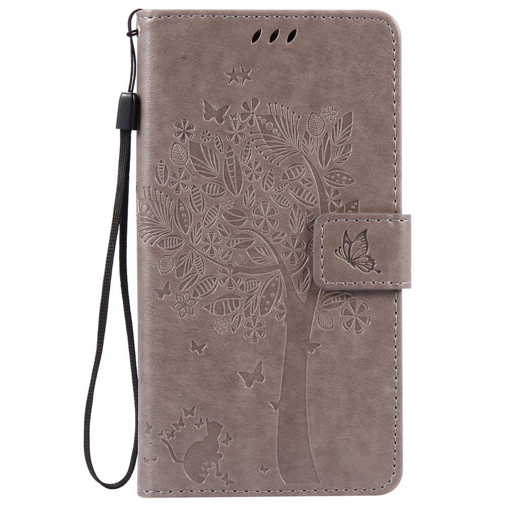 MuTouNiao Gray Leather Flip Case Cover For Motorola Moto X Style