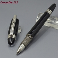 Crocodile 232 Diamond Star Top Black And Silver Roller Ball Pen Stationery Business Writing Pens