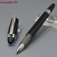 Crocodile 232 Diamond Star Top Black resin Roller Ball Pen stationery office business luxury brand writing gift ball pens