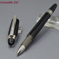 Timsah 232 Elmas Yıldız Üst Siyah reçine Silindir Tükenmez Kalem kırtasiye ofis İş lüks marka yazma hediye topu kalemler