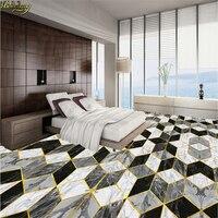 Beibehang Sob Encomenda Da Foto Papel De Parede 3D Autoadesivo PVC Piso Hall Do Hotel Arte Parquet Telha Pedras Banheiro Piso 3d papel de Parede