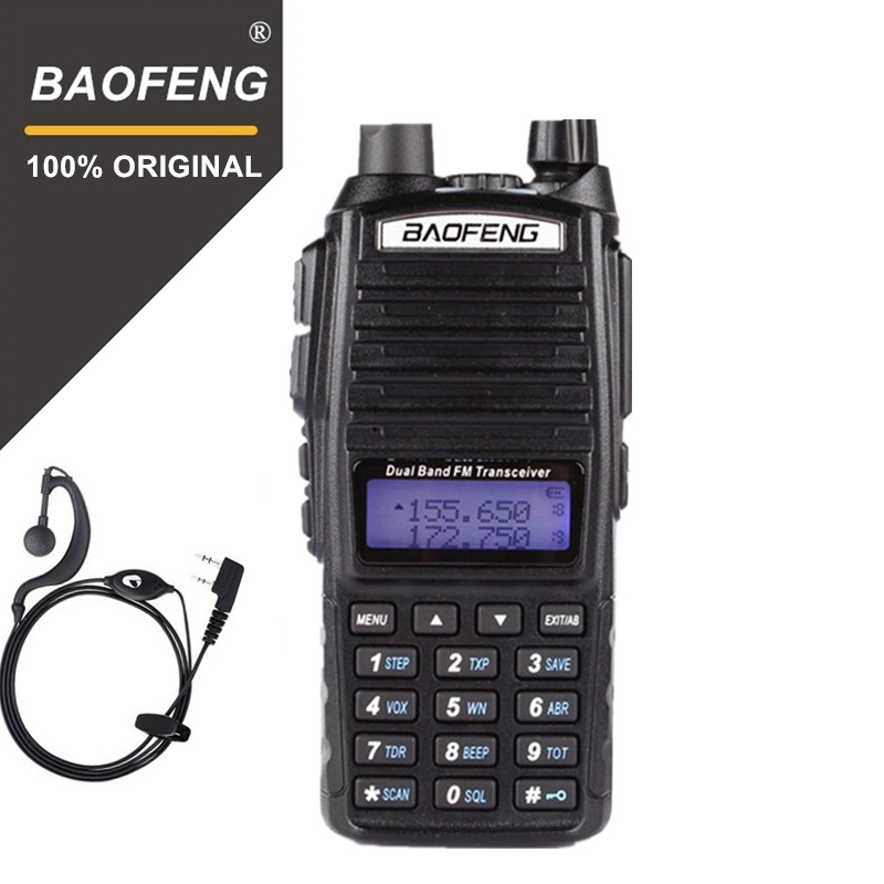 100% D'origine Baofeng UV-82 Talkie Walkie Double Bande Radio Interphone UV82 Pofung Deux Way Radio VHF UHF Portable FM Jambon émetteur-récepteur