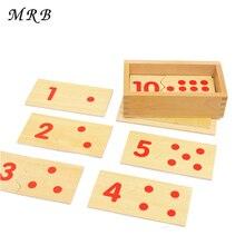 Детские игрушки Монтессори обучение математике номер деревянная доска головоломка Монтессори Обучающие деревянные игрушки Детский подарок
