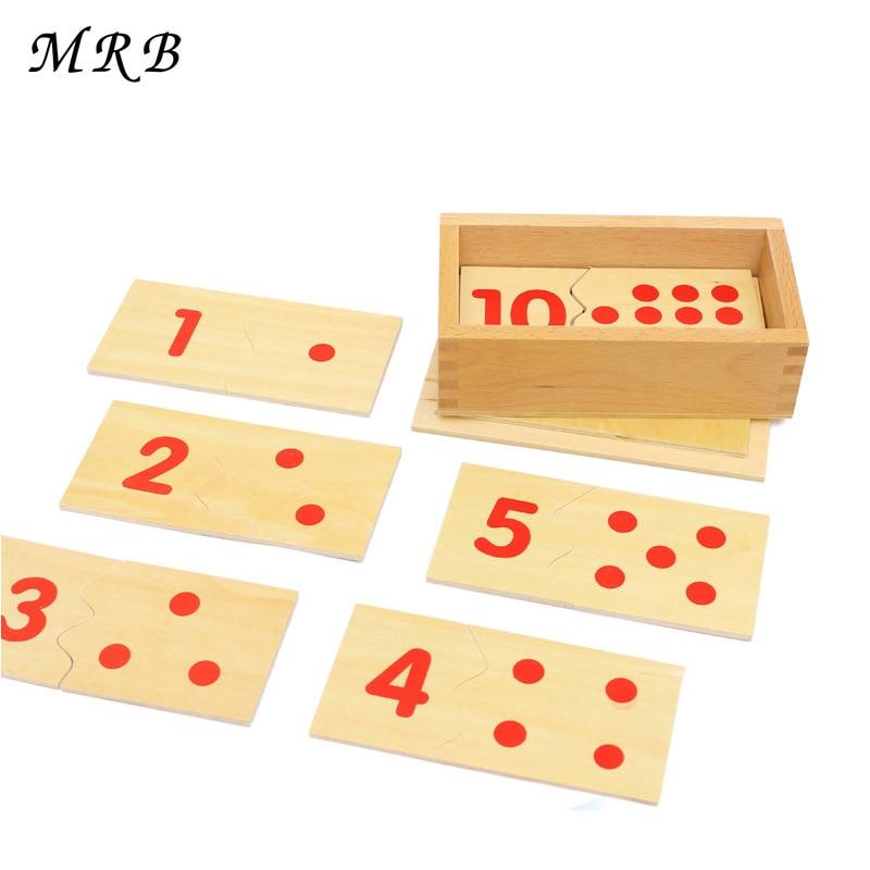 Babyspeelgoed Montessori Leer Wiskunde Wiskunde Nummer Houten Bord - Leren en onderwijs