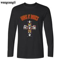 Street Wear Rock Band Guns N Roses Men T Shirt Long Sleeve Punk And Hip Hop