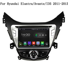 2 DIN Car Audio DVD Player GPS Navi Android 5.1 UI Touch Screen Stereo Automotive Map For Hyundai Elantra /Avante /I35 2011-2013