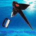 O transporte livre de alta qualidade pipa tubarão 10 pçs/lote com linha punho tecido ripstop pipa pipa barato atacado fábrica de guarda-chuva pipa