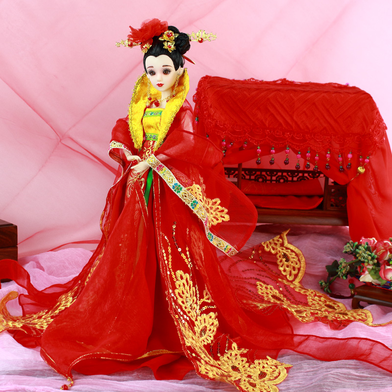 Fortune Days East Charm ancient costume doll 1/6 like BJD Blyth dolls Tang Dynasty Bride with makeup wedding High Quality gift ожерелье bride makeup frontlet