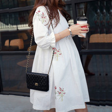 Maternity Clothing China Casual Floral Dress Cotton Loose for Pregnant Women Clothes Pregnancy
