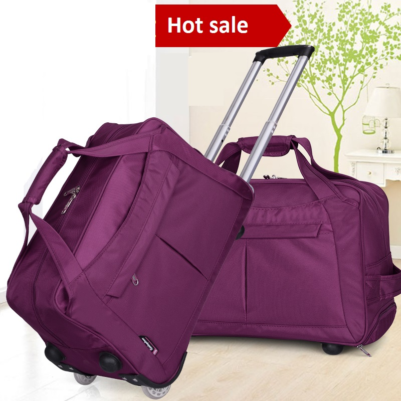 Retro 1970s Style BMX Silhouette Carry Lightweight Large Capacity Portable Travel Luggage Trolley Bag