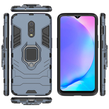For One plus 7/6T Armor Case With Finger Ring Kickstand Shockproof Dual Layer Hard Back Cover