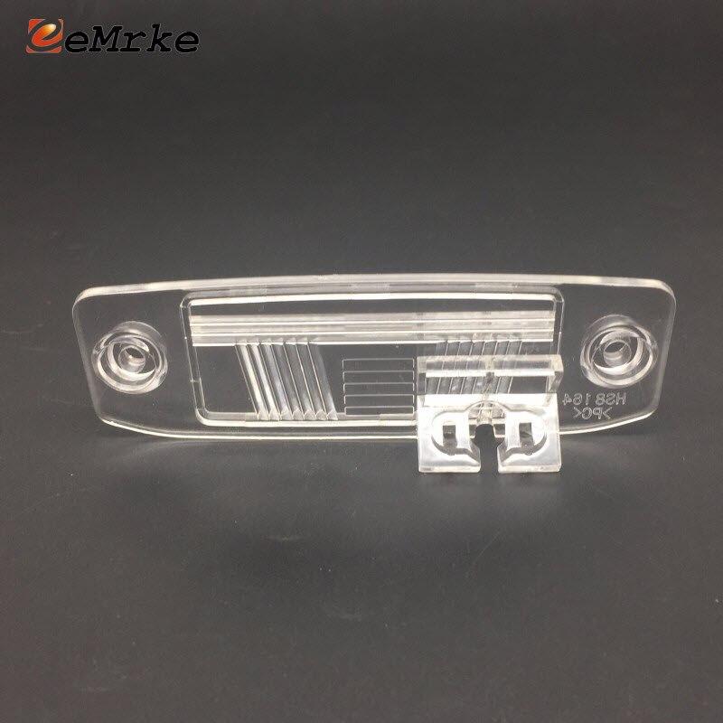 Eemrke Car Rear View Camera Bracket License Plate Lights