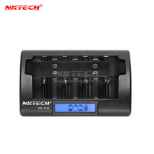 NKTECH NK-D4C Universal Rapid Battery Charger 4-Slots LCD Display Intelligent Smart Chargers For Ni-Cd Ni-MH AAA AA C/D/9V/6F22(China)