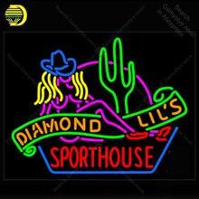 Sinal de luz néon sexy diamante lils esporte casa las vegas janela neon lâmpada sinal da loja exibição tubos vidro real luzes handcraf