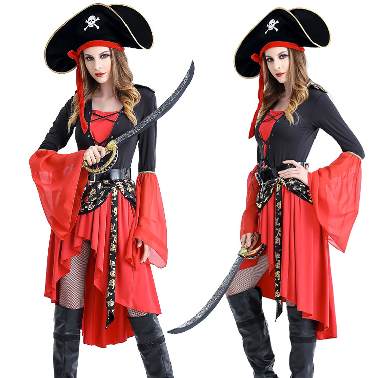 Costumes & Accessories New Sexy Lace Costume Irregularity Pirate Costume Halloween Zombie Fancy Dress Carnival Adult Pirate Cosplay Costumes