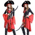 Sexy Traje Do Pirata Cosplay Mulheres Vestido Adulto Fantasia de Carnaval Dia Das Bruxas Piratas Do Caribe Traje Role playing M L XL XXL