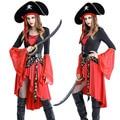 Sexy Traje de Pirata Cosplay Vestido de Halloween Adulto Mujeres Carnaval Fantasia Piratas Del Caribe Traje de rol M L XL XXL
