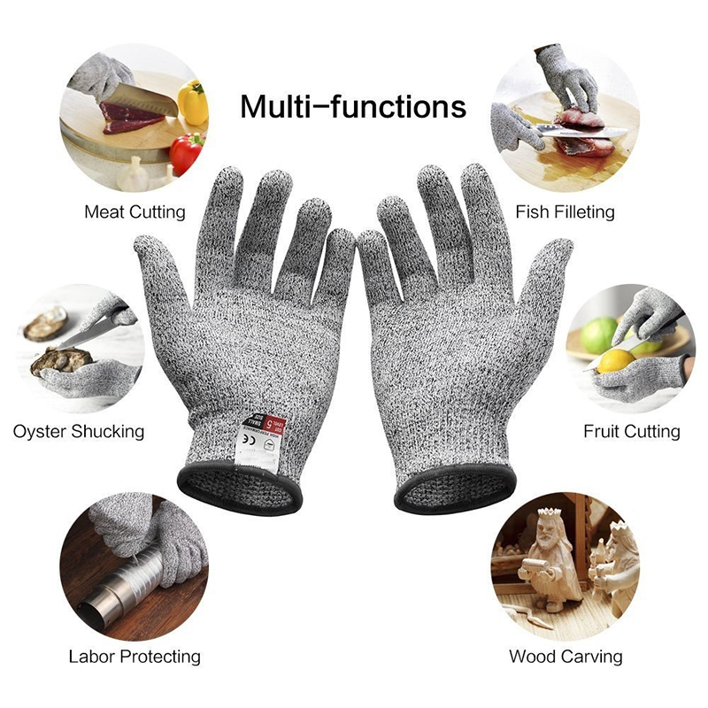 1 Pair Working Safety Gloves Proof Protect Stainless Steel Wire Cut  Anti-cutting Breathable Glove Self-defense Gloves