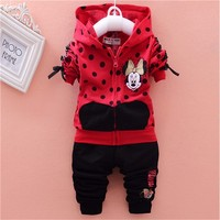 Baby Girls Clothing Sets Cartoon Minnie Mouse 2016 Winter Children S Wear Cotton Casual Tracksuits Kids