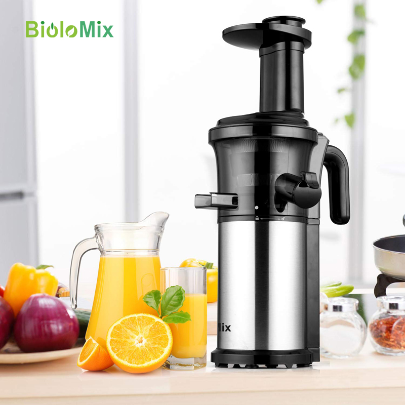 Image 4 - 200W 40RPM Stainless Steel Masticating Slow Auger Juicer Fruit and Vegetable Juice Extractor Compact Cold Press Juicer Machine-in Juicers from Home Appliances