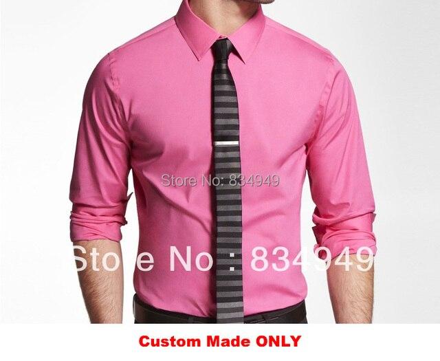 Por encargo 100% vestido rosado del algodón para los hombres ...