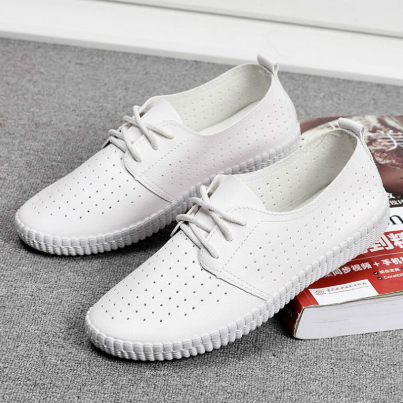 Dwayne Women Sneakers Flat Shoes Cut Out PU Leather Oxfords Flats Shoes Ladies Breathable Walking Sneaker Ballet LoafersDwayne Women Sneakers Flat Shoes Cut Out PU Leather Oxfords Flats Shoes Ladies Breathable Walking Sneaker Ballet Loafers