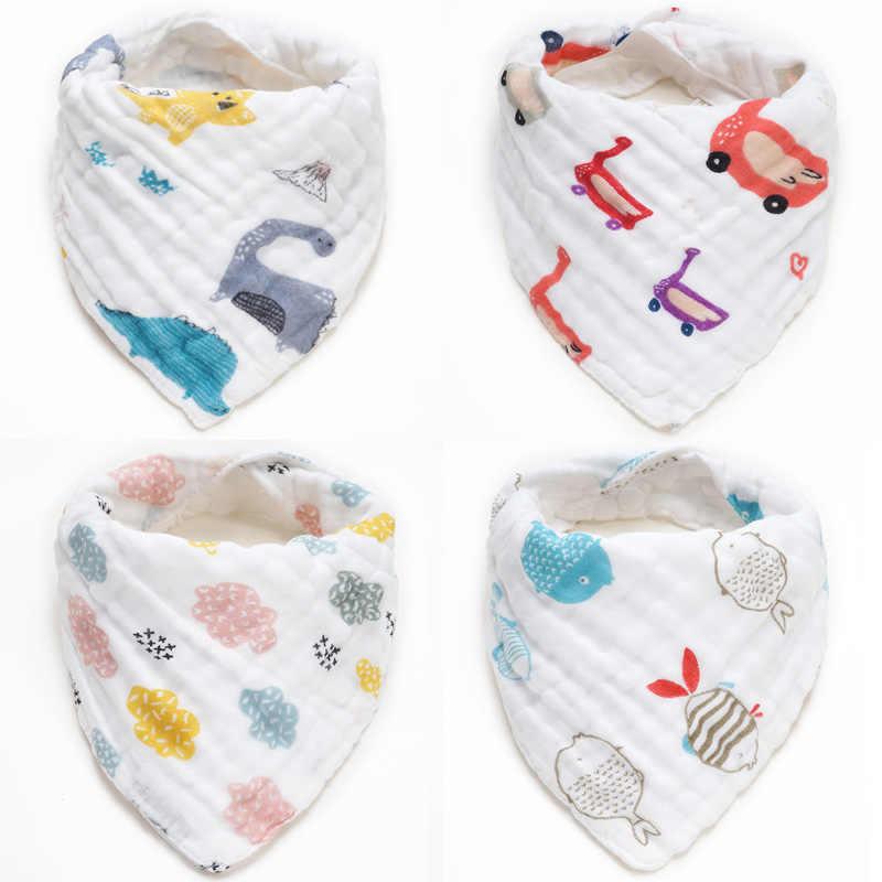 Katoenen Baby Bandana Slabbetjes Feeding Baby Schort Zachte Slabbers voor Meisjes Jongens Cartoon Driehoek Feeding Burp Doek Bebe Kraag sjaal