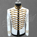 Nightclub bar singer male Dj performance outwear costumes Show stage Men's Royal jacket suit Stars Mj concert formal dress