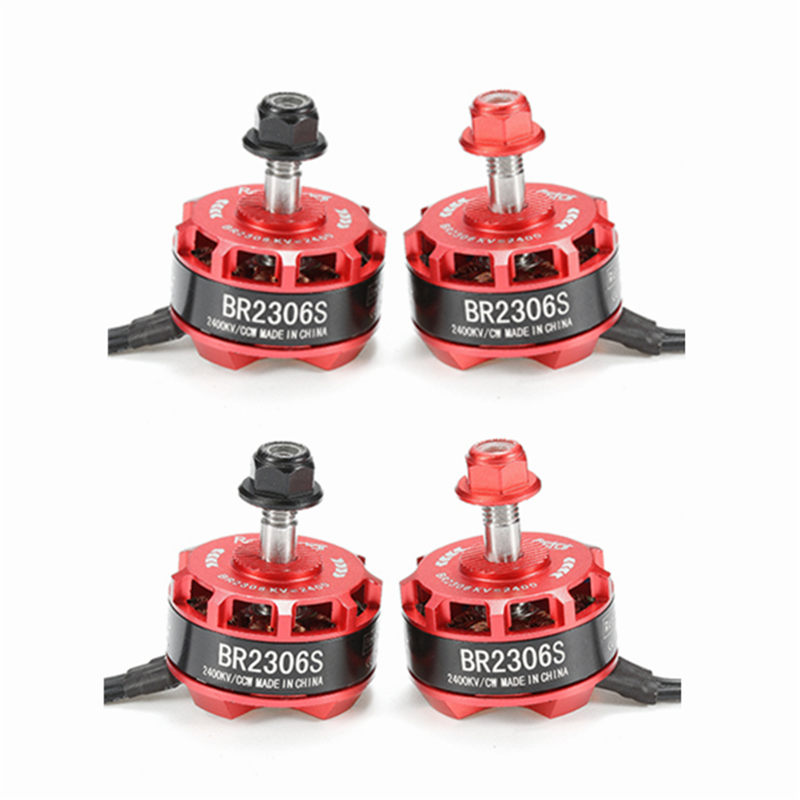 High Quality Racerstar Racing Edition 2306 BR2306S 2400KV 2-4S Brushless Motor For RC Model Drone X210 X220 250 FPV Racer high quality 4pcs racerstar racing