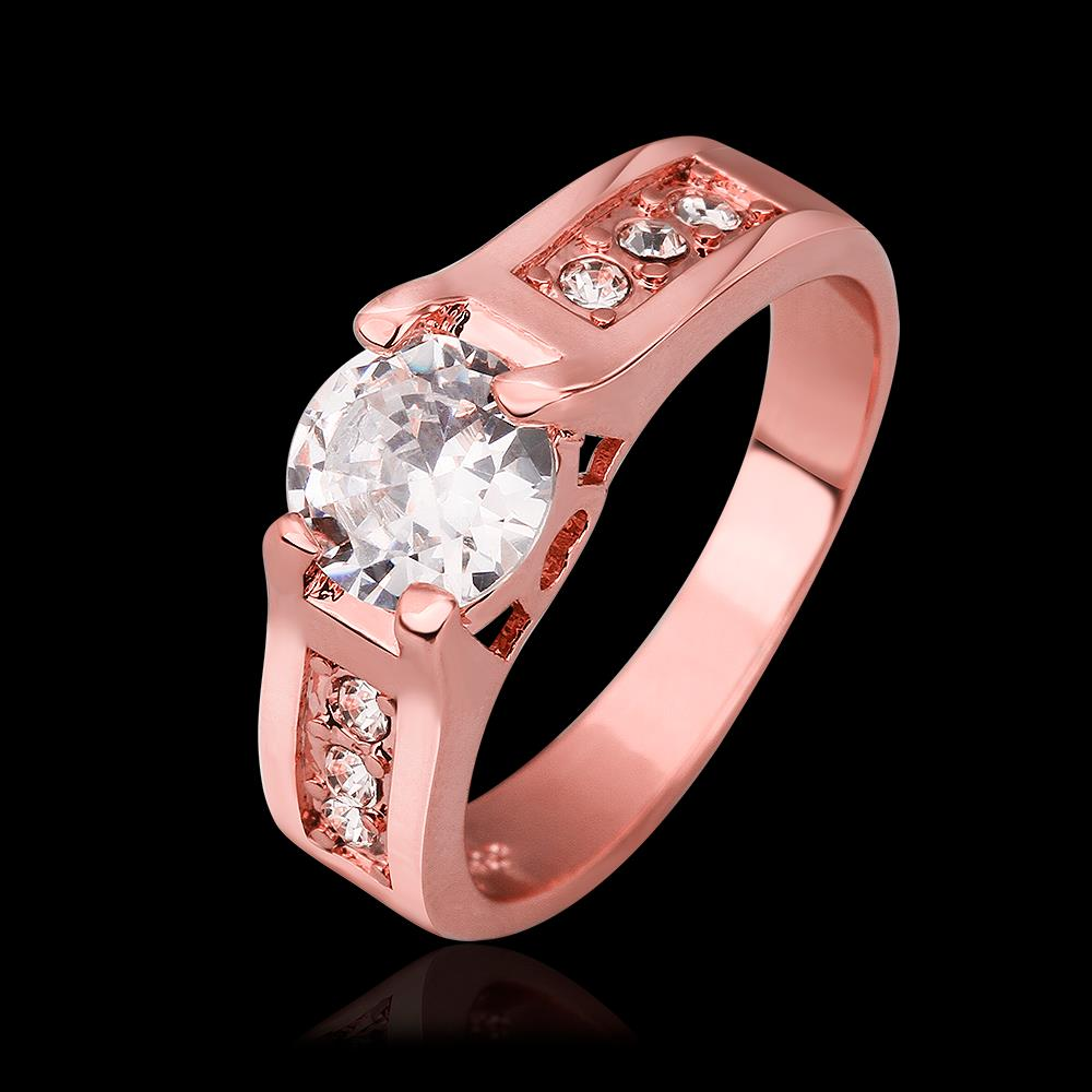 JIALIMEI Brand Anniversary Gift Ring Rose Gold Color Setting Cubic ...