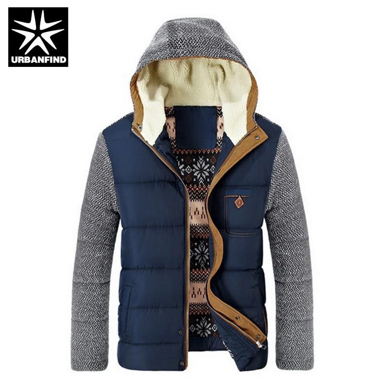 Бренд корейский модные мужские теплые парки Размеры M-3XL лоскутное Дизайн с хлопковой подкладкой Стиль молодых Для мужчин зимние куртки
