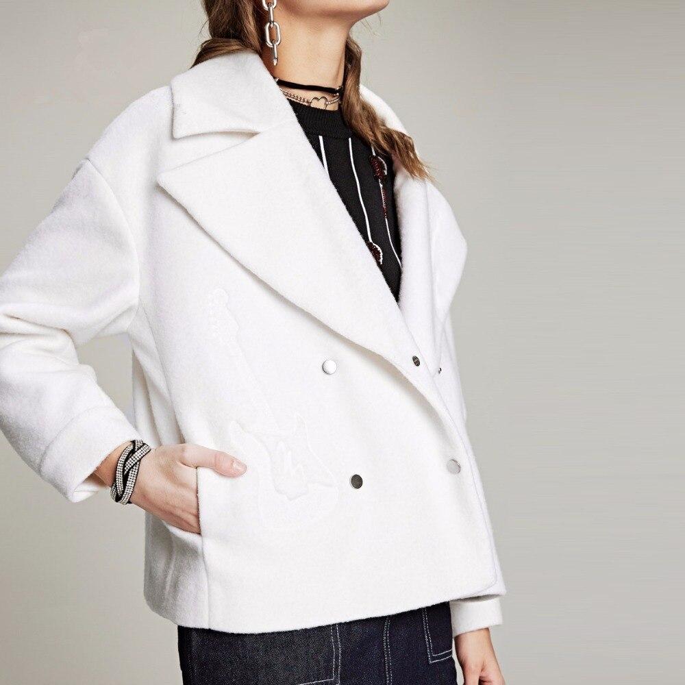Aliexpress.com : Buy White Short Wool Blend Coat Guitar Pattern ...