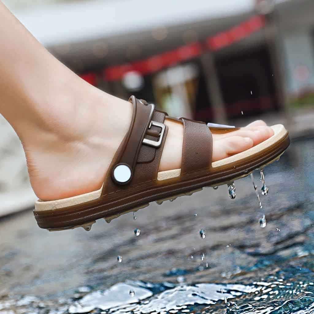 Zapatillas de playa de verano para hombres, zapatos de gelatina de moda, sandalias de playa para hombres, sandalias casuales para caminar, Chanclas de playa para hombres, zapatos de mujer JU13