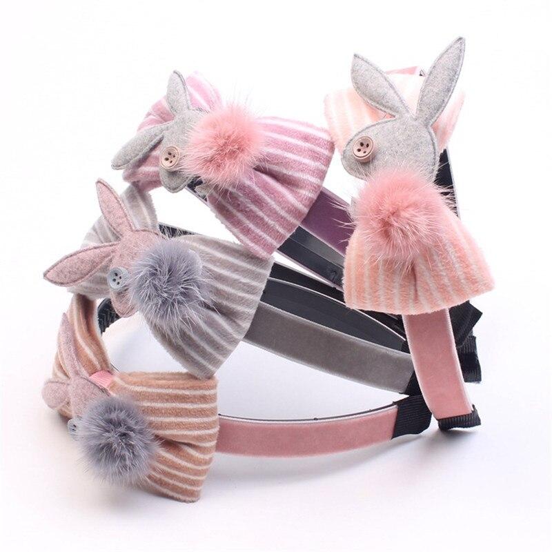 1 Pc Große Kaninchen Ohr Haarbänder Kunststoff Stirnbänder Mädchen Weihnachten Geschenk Winter Boutique Headwear