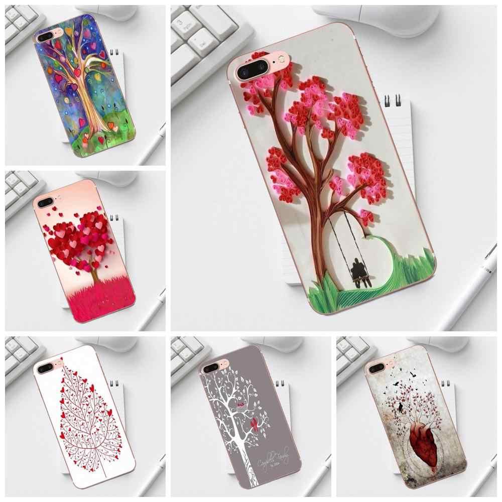 Besties Tình Yêu Cây Trái Tim Cho iPhone 4 4 s 5 5C SE 6 6 s 7 8 Cộng Với X XS max XR Galaxy A3 A5 J1 J3 J5 J7 2017 Mềm TPU Bao Gồm Trường Hợp