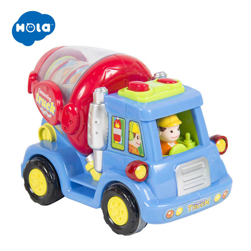 HOLA 386 оптовая продажа Детские игрушки с эффектом трения Push & Go, игрушечные грузовики, детские игрушки для ролевых игр, отличные рождественские подарки